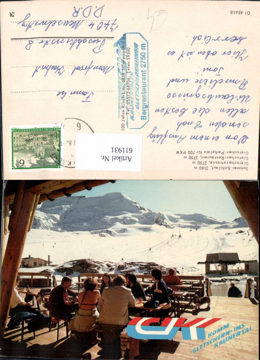 611931,Gemeinde Kaunertal Kaunertaler Gletscherbahnen Bergrestaurant Wintersport Terrasse