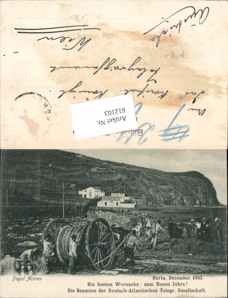 612103,Horta Fayal Acores Azoren Beamten Deutsch-Atlantischen Telegrafen Gesellschaft Postwesen