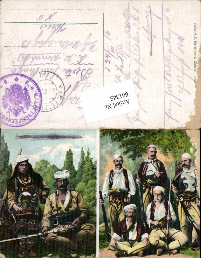601345,Albaneische Insurgenten Albanien Albania Soldaten Feldpost K. u. K. Luftschifferabteilung Fliegerkompagnie