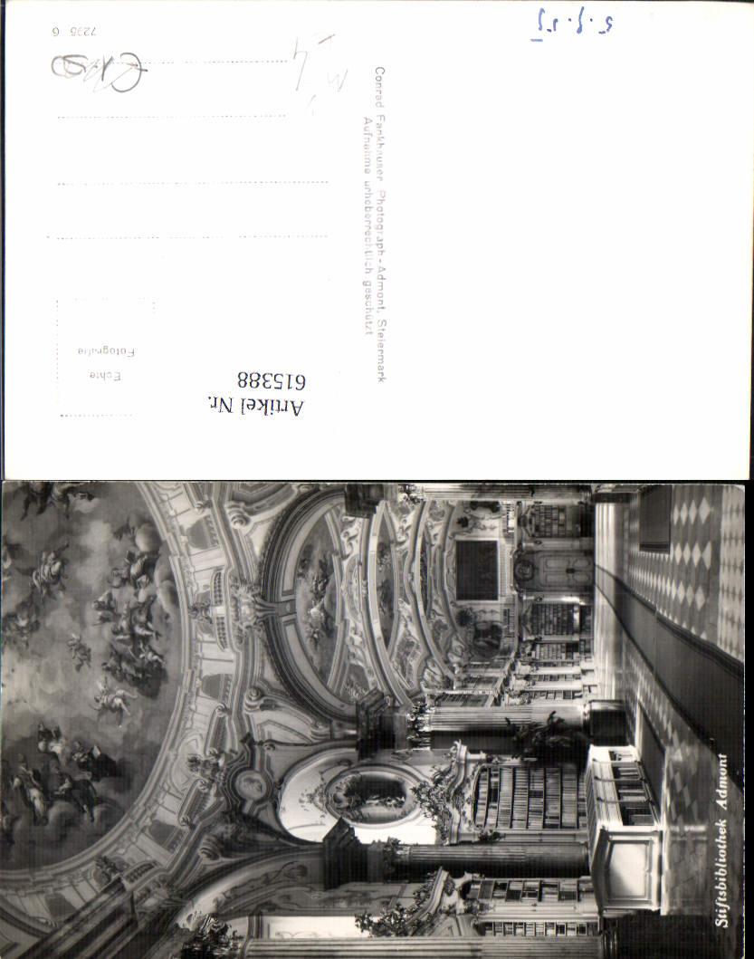 615388,Admont im Gesäuse Bibliothek pub Conrad Fankhauser