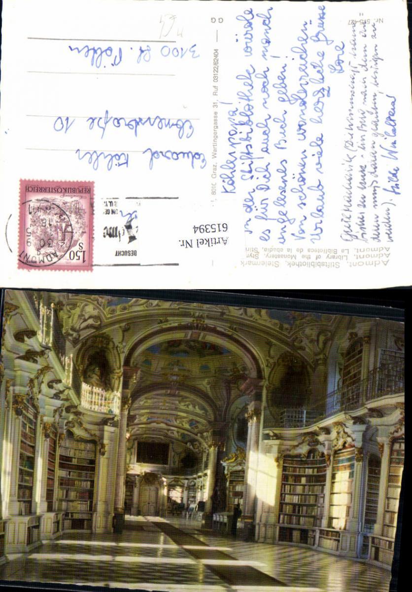 615394,Admont im Gesäuse Bibliothek