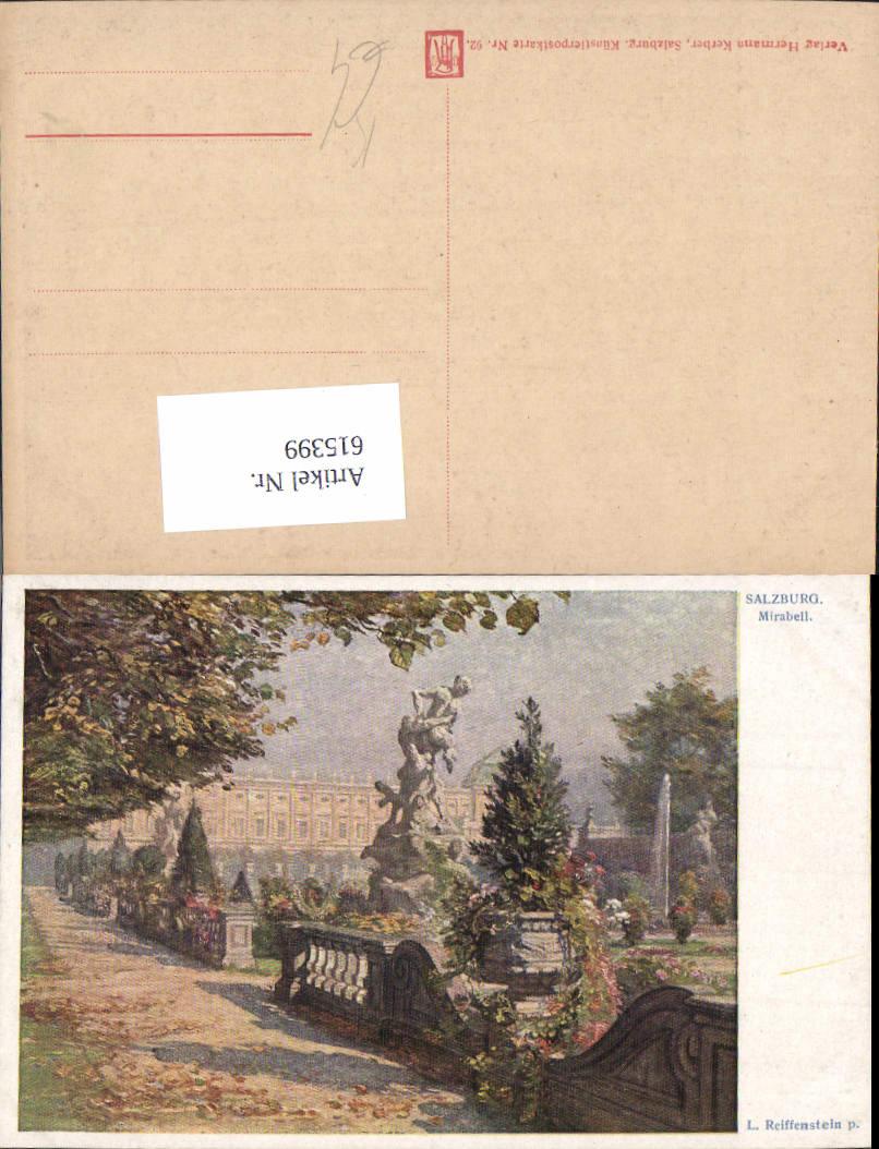 615399,Künstler AK L. Reiffenstein Salzburg Mirabell pub Hermann Kerber 92