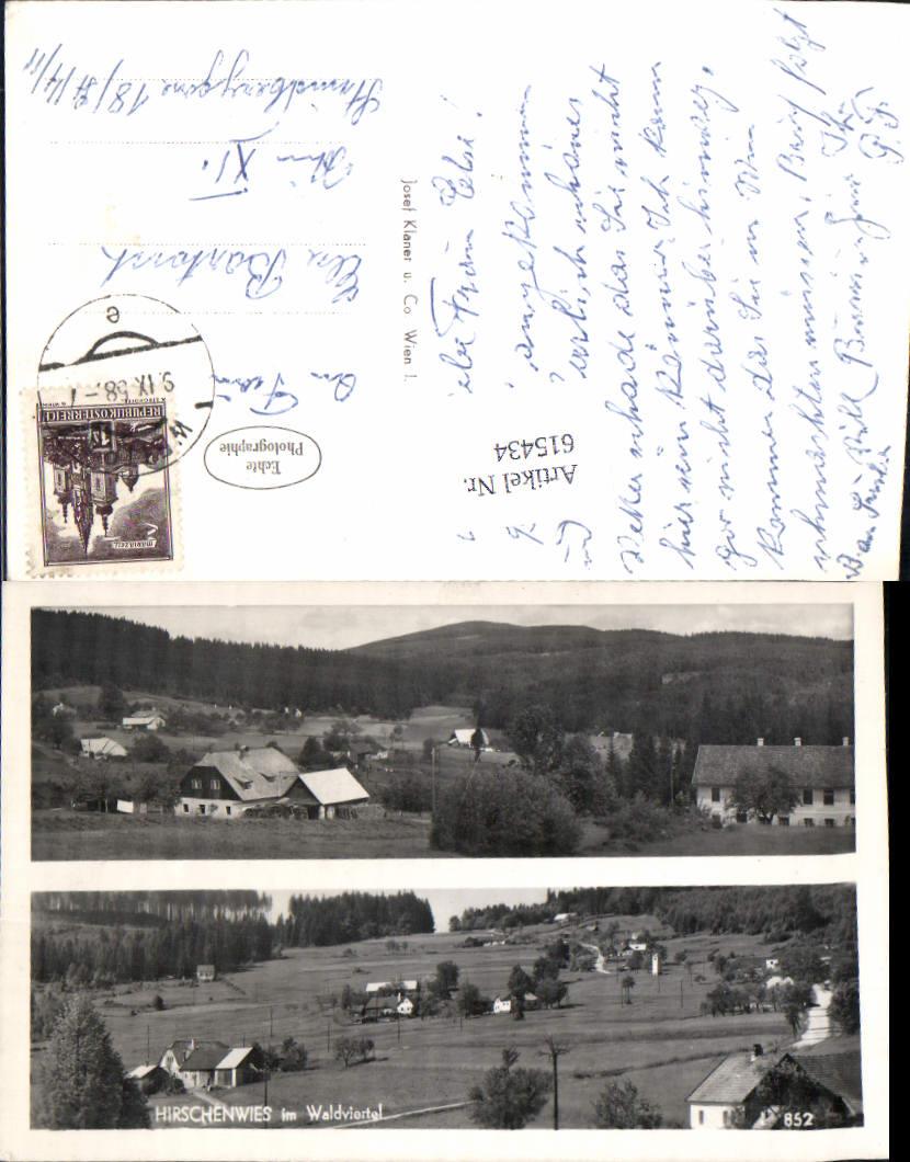 615434,Hirschenwies im Waldviertel Moorbad Harbach b. Gmünd