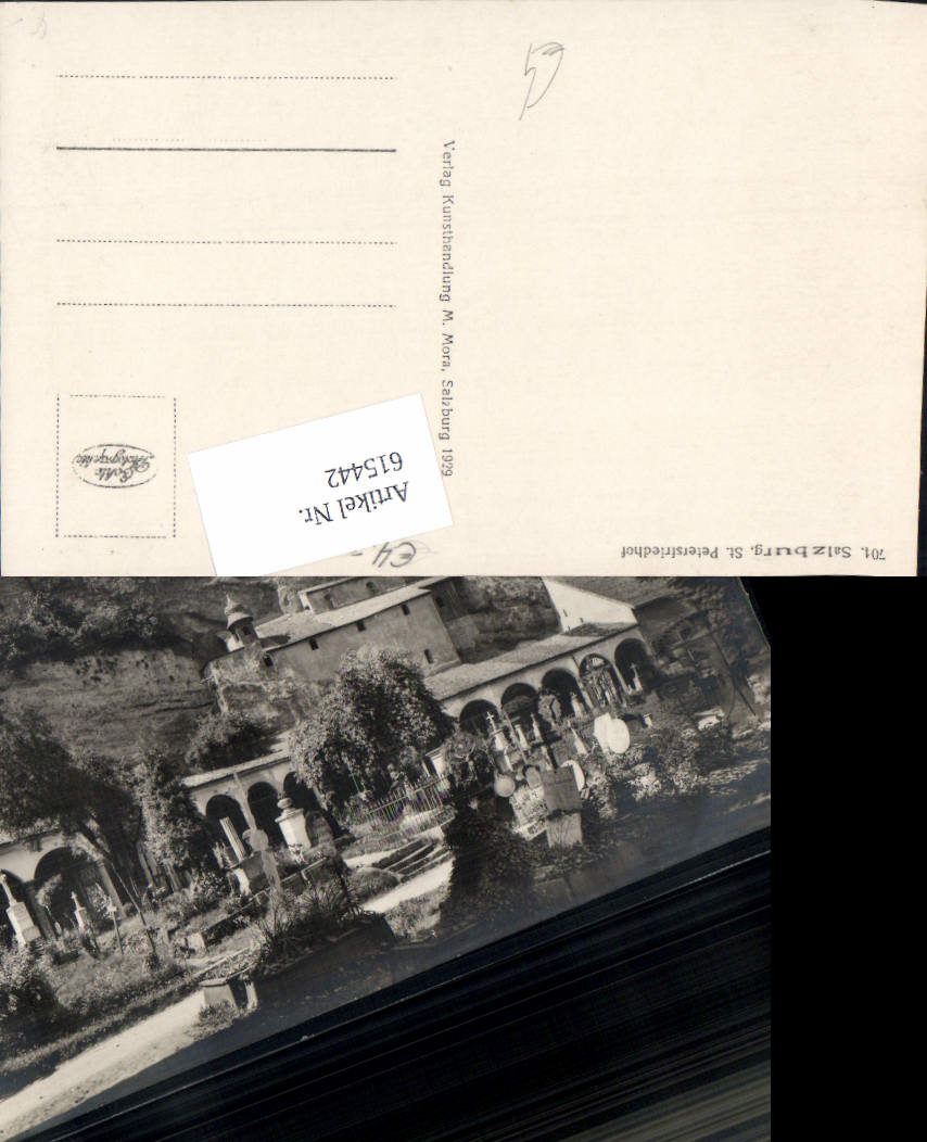 615442,Foto-AK Salzburg St. Peter Friedhof pub Mora M. 701