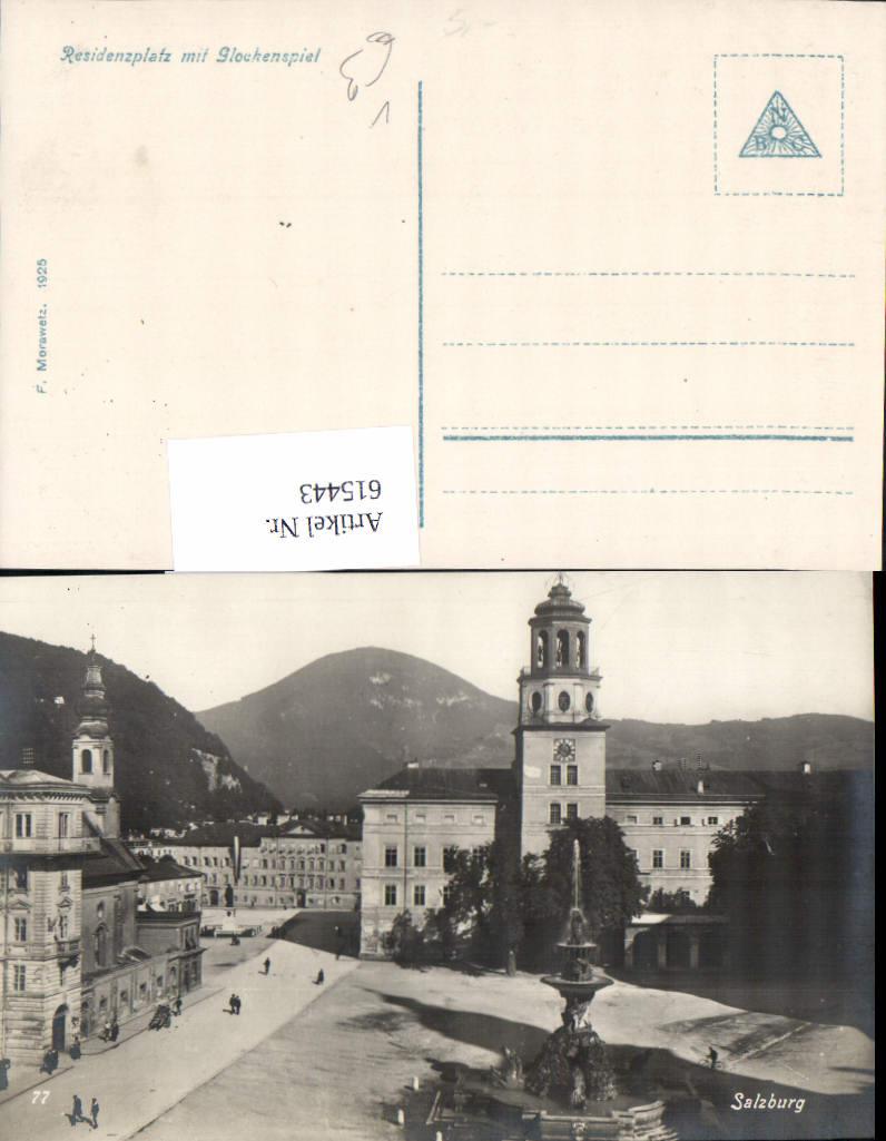 615443,Foto-AK Salzburg Glockenspiel Residenzplatz pub Morawetz 77