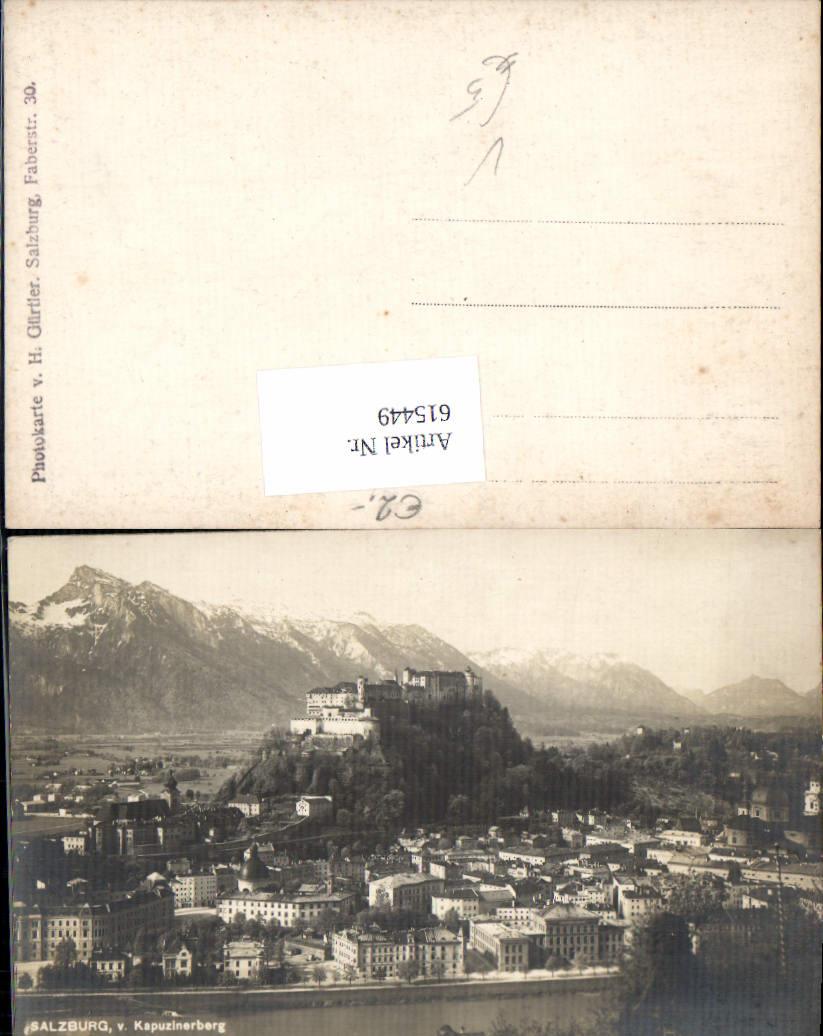 615449,Foto-AK Salzburg vom Kapuzinerberg pub H. Gürtler