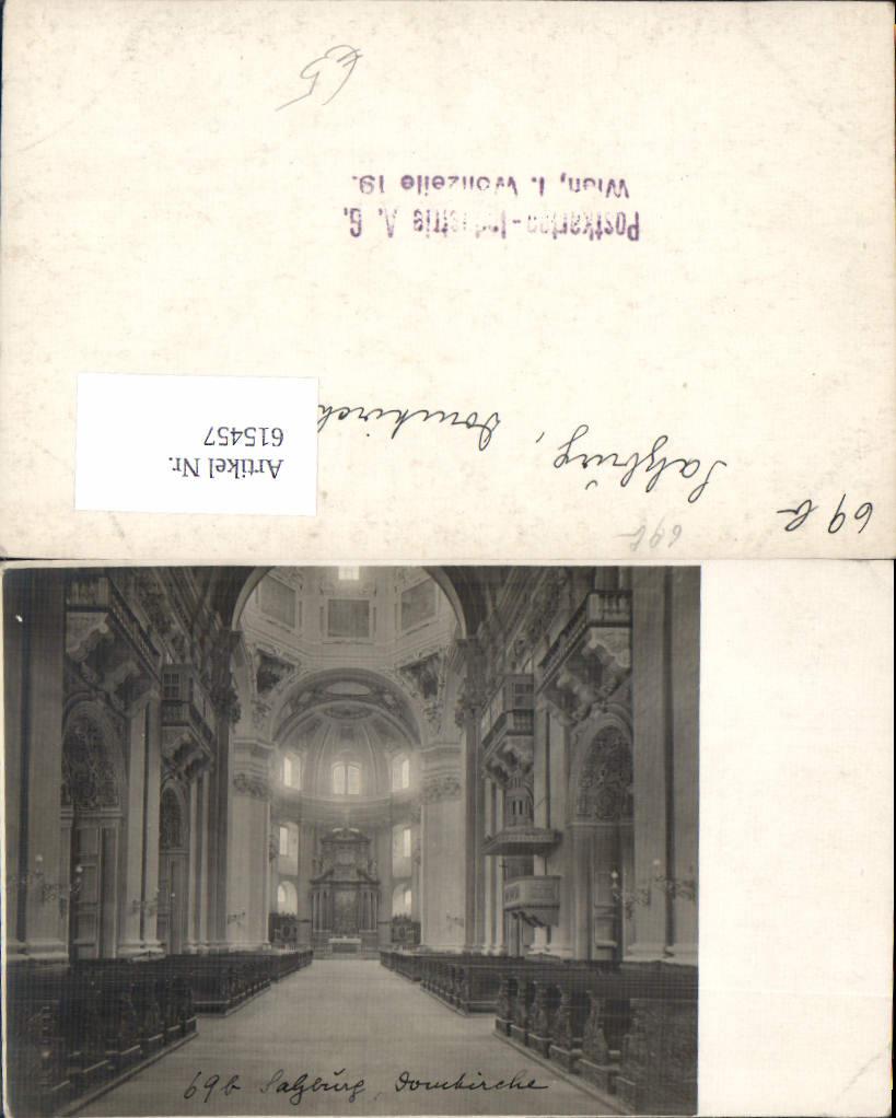 615457,tolle Foto-AK Salzburg Domkirche Dom Verlagsrohabzug