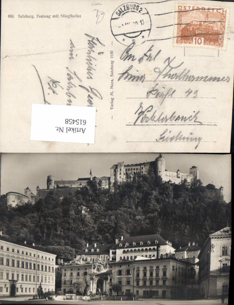 615458,Foto-AK Salzburg Festung m. Stieglkeller Stiegl pub Mora 884