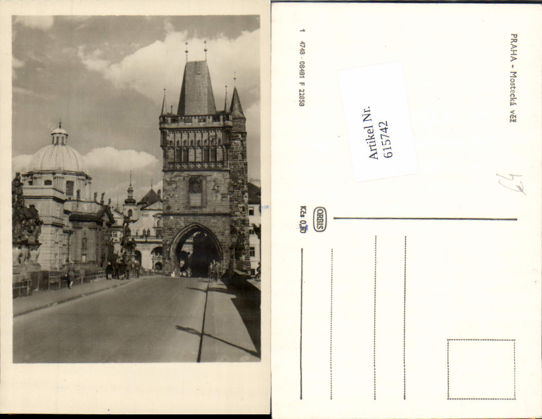 615742,Prag Praha Mostecka vez