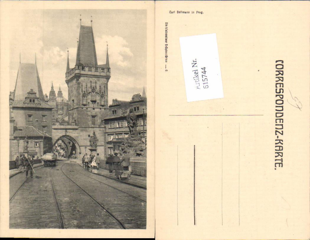 615744,Prag Praha Kleinseitner Brückentürme pub Carl Bellmann 6