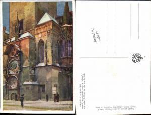 615747,Künstler AK Jaroslav Setelik Prag Praha Astronomische Uhr Kunstuhr