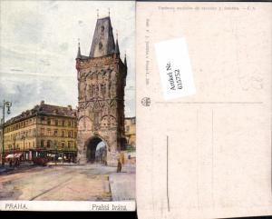 615752,Künstler AK J. Safarika Prag Praha Prasna brana
