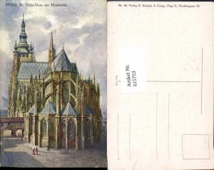 615753,Künstler AK St. Veits Dom Hradschin Prag Praha