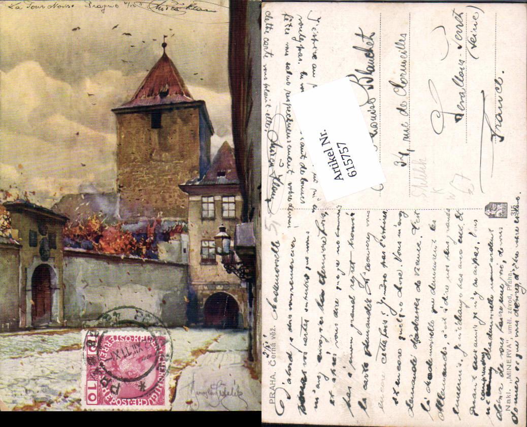 615757,Künstler AK Jaroslav Setelik Prag Praha Cerna vez