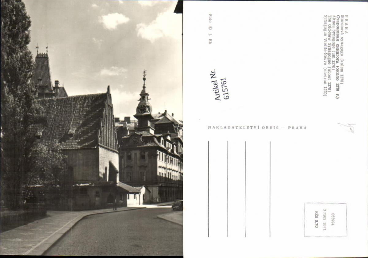 615761,Prag Praha Staronova Synagoge Judaica