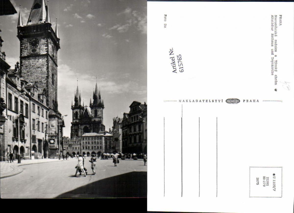 615765,Prag Praha Altstädter Rathaus Teynkirche