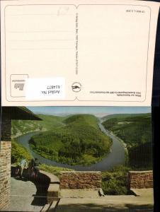614877,Blick zur Saarschleife Aussichtspunkt Cloef b. Orscholz Saar Mettlach
