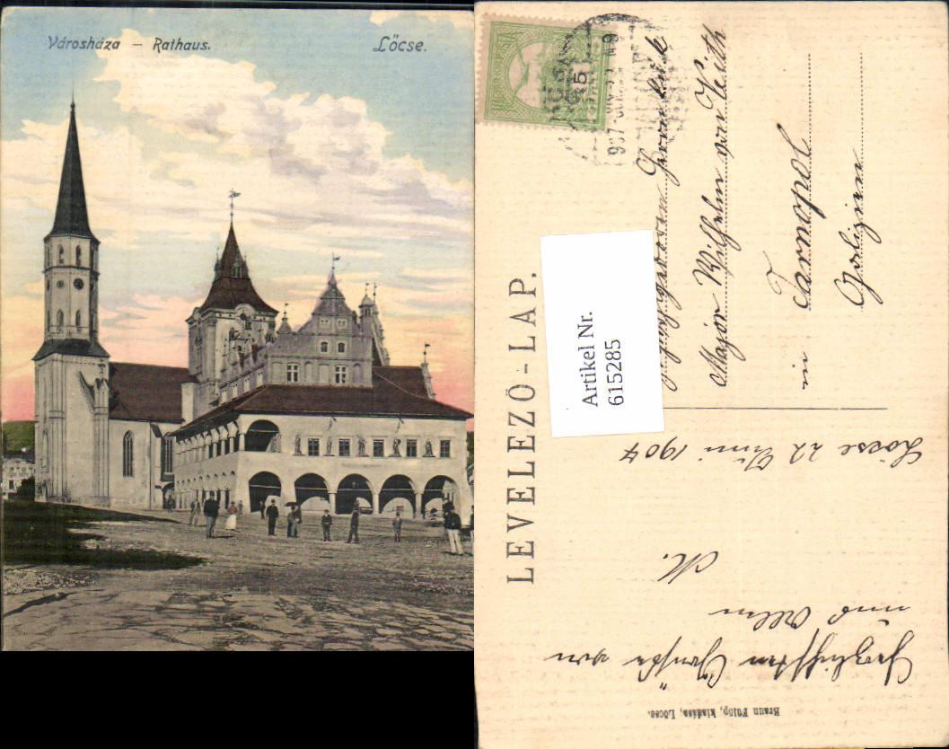 615285,Locse Levoca Spis Varoshaza Rathaus Slovakia 0