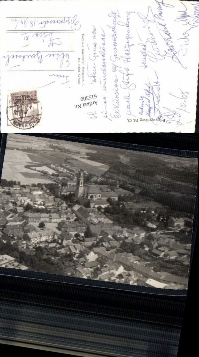615300,tolle Fliegeraufnahme Herzogenburg 1960 Luftbild