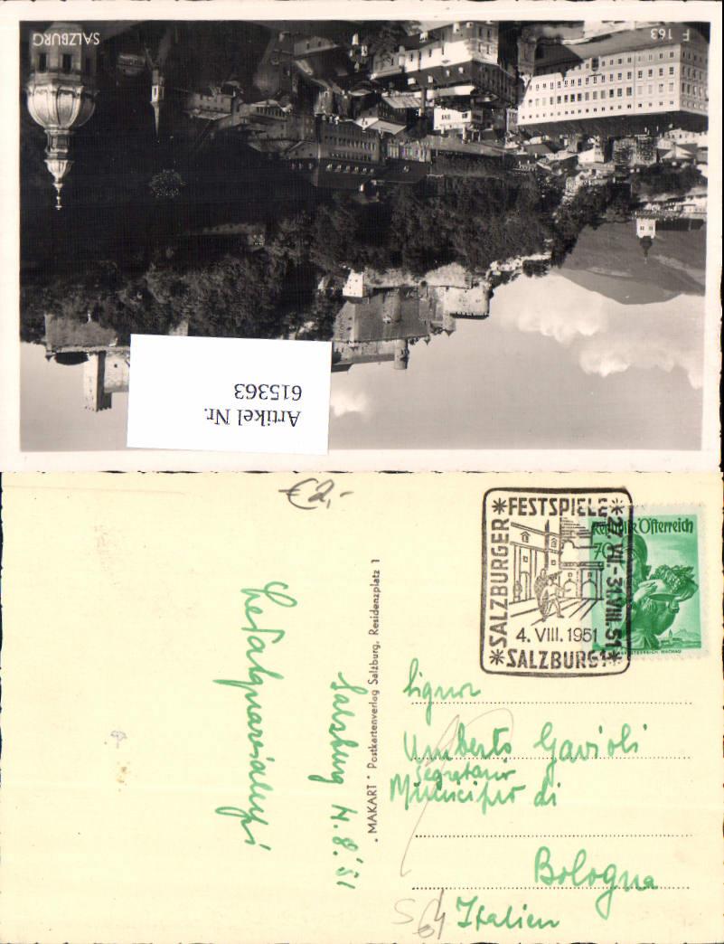 615363,Stempel Salzburger Festspiele 1951 n. Bologna
