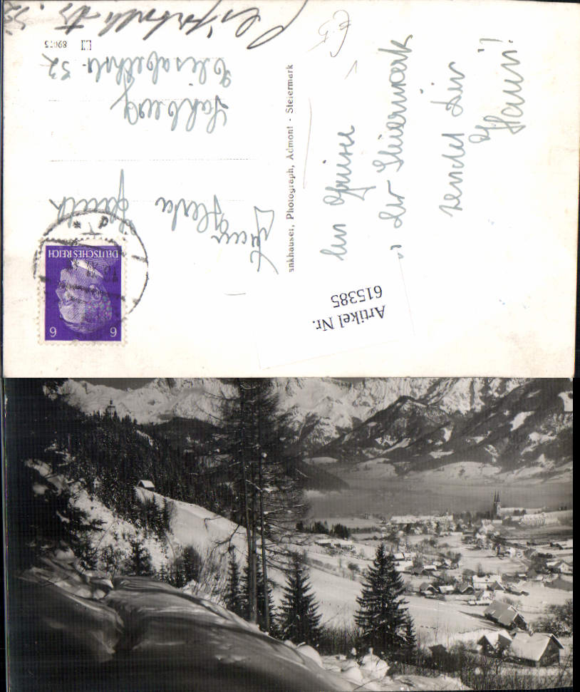 615385,tolle Foto-AK Admont im Gesäuse pub Conrad Fankhauser