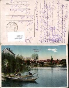 616220,Krosno Odrzanskie Crossen a. d. Oder Stadtgraben Ruderboot Boot Poland Feldpost
