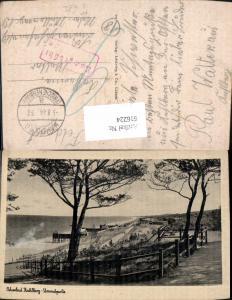 616224,Ostseebad Kahlberg Strandpartie Krynica Morska Poland Feldpost Stempel Nachgebühr