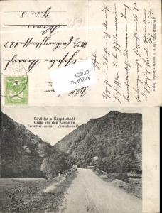 617051,Gruss aus den Karpaten Ukraine Vereczke er Pass Felsőverecke Verecke Veretsky