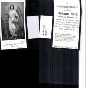 484732,Andachtsbild Sterbebild Johann Heiß Privat in Dörnbach