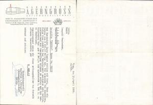 615317,A. Gerngroß Wien Neubau Rechnung 1956
