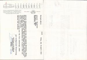 615320,A. Gerngroß Wien Neubau Rechnung 1956
