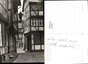 617445,Foto Ak Quedlinburg Fachwerkensemble Marktkirchhof u. Breiter Straße
