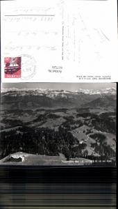 617526,Fliegeraufnahme Trub Berghotel Napf m. d. Alpen