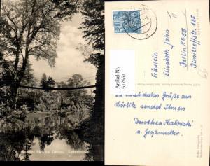 617661,Foto Ak Wörlitzer Park b. Dessau Kettenbrücke Brücke