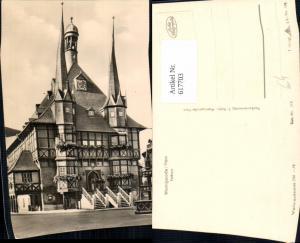 617703,Foto Ak Wernigerode Harz Rathaus