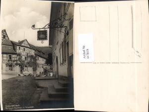 617819,Foto Ak Neckarsteinach Partie a. Gasthaus z. Schwanen