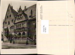 617821,Foto Ak Halberstadt Rathaus Erker
