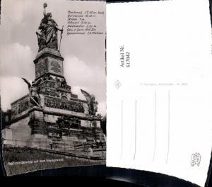 617842,Foto Ak Rüdesheim am Rhein Nationaldenkmal a. Niederwald Niederwalddenkmal