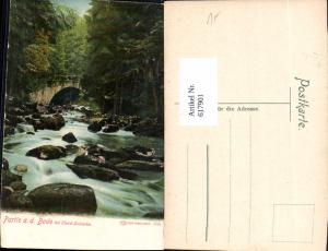 617901,Wernigerode Partie a. d. Bode b. Elend Harz Schierke Brücke