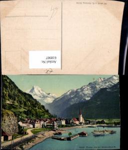 618907,Flüelen u. d. Bristenstock Schiff Dampfer