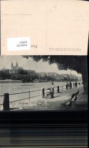618913,Basel Am obern Rheinweg Kinderwagen Kinder