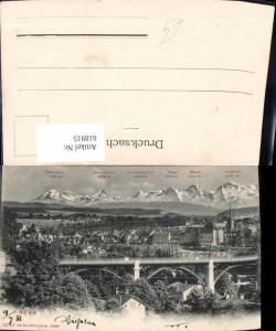 618915,Bern m. Gipfelkarte Brücke