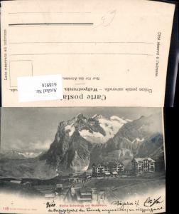 618916,Kleine Scheidegg m. Wetterhorn Bergbahn b. Grindelwald