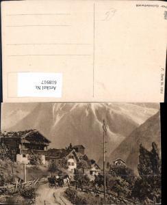 618917,Grindelwald Ansicht m. Kutsche Maibaum