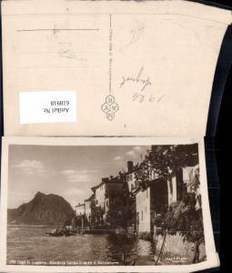 618918,Foto Ak Lago di Lugano Gandrigna Gandria verso il Monte S. Salvatore Boot
