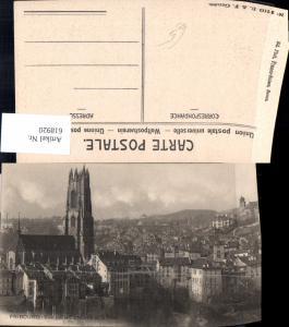 618920,Fribourg Freiburg Vue sul la Cathedrale et la Ville
