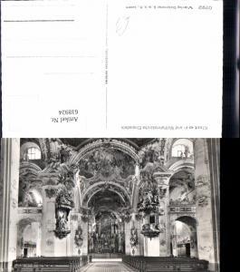 618924,Foto Ak Einsiedeln Kloster Wallfahrtskirche Innenansicht