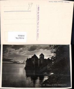618926,Foto Ak Veytaux Chateau de Chillon Crepuscule