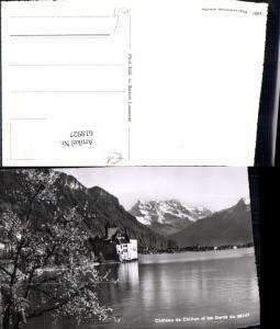 618927,Foto Ak Veytaux Chateau de Chillon et les Dents du Midi