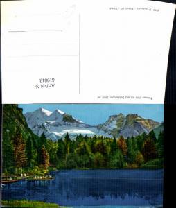 619013,Foto Ak Blausee m. Doldenhorn Kandergrund